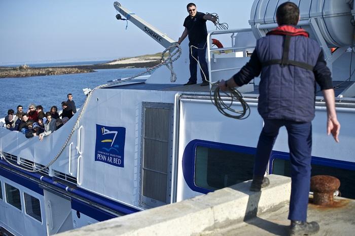 Molène - Arrivée au port de Molène - Simon Cohen
