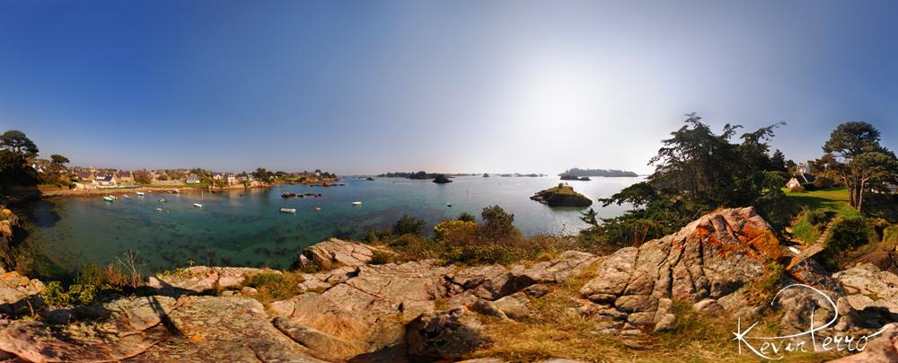 Vue panoramique île de Bréhat