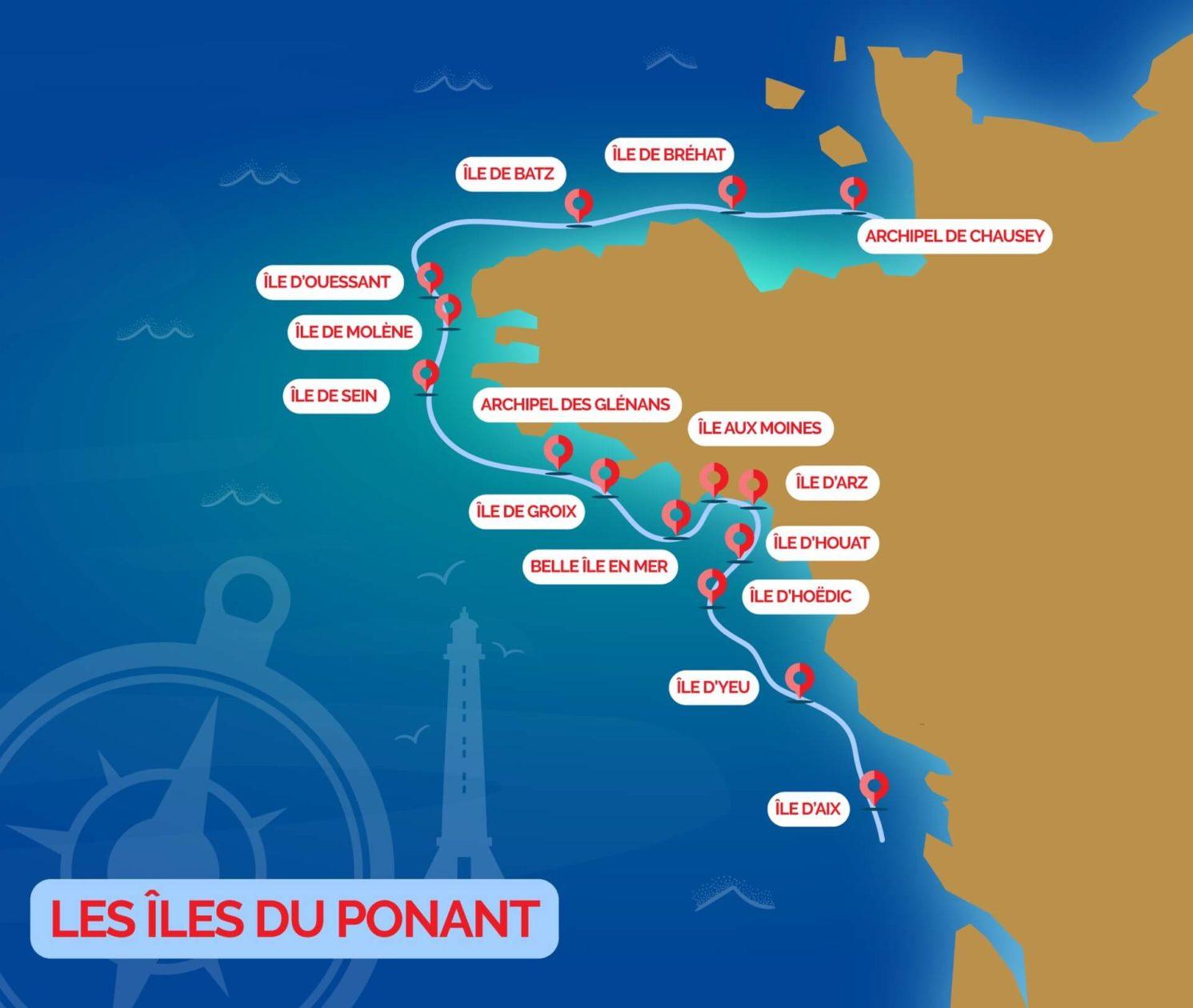 les îles du Ponant