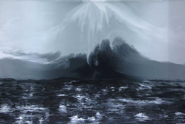 la vague ile de sein peinture