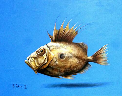 peinture saint pierre poisson ile de sein
